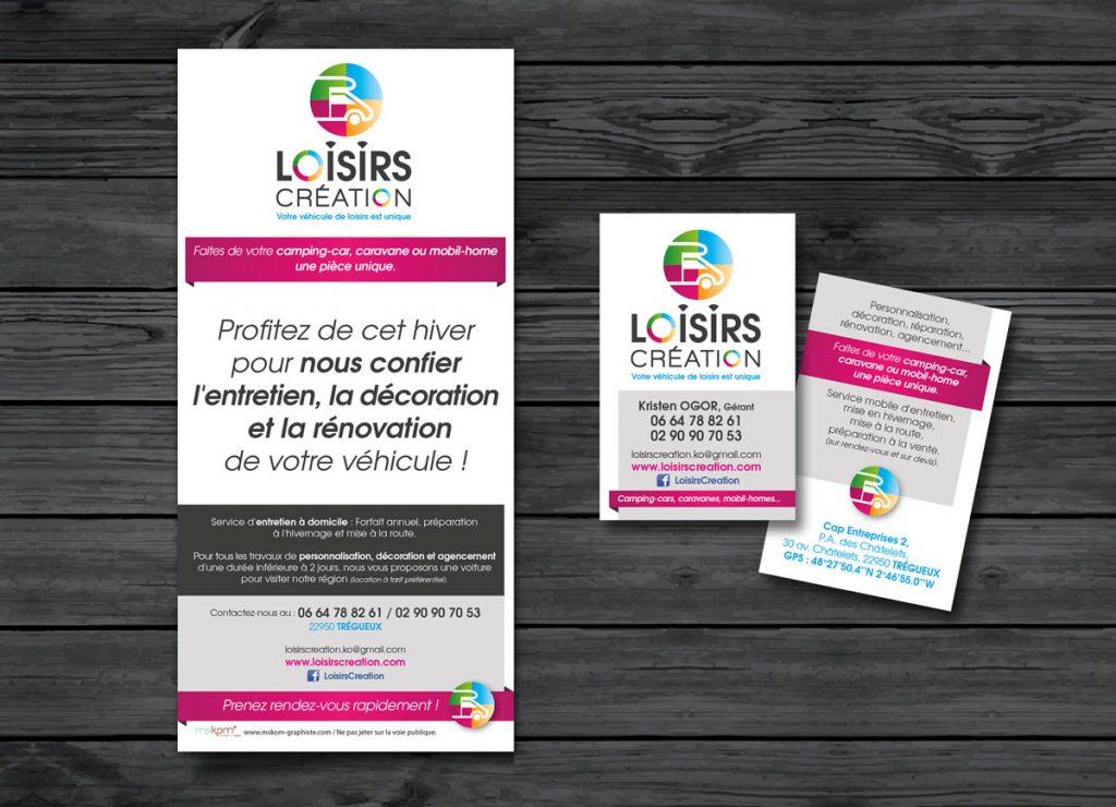 Carte et flyer Loisirs Création